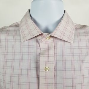 Brooks Brothers Slim Fit Non Iron Pink Check 16-33